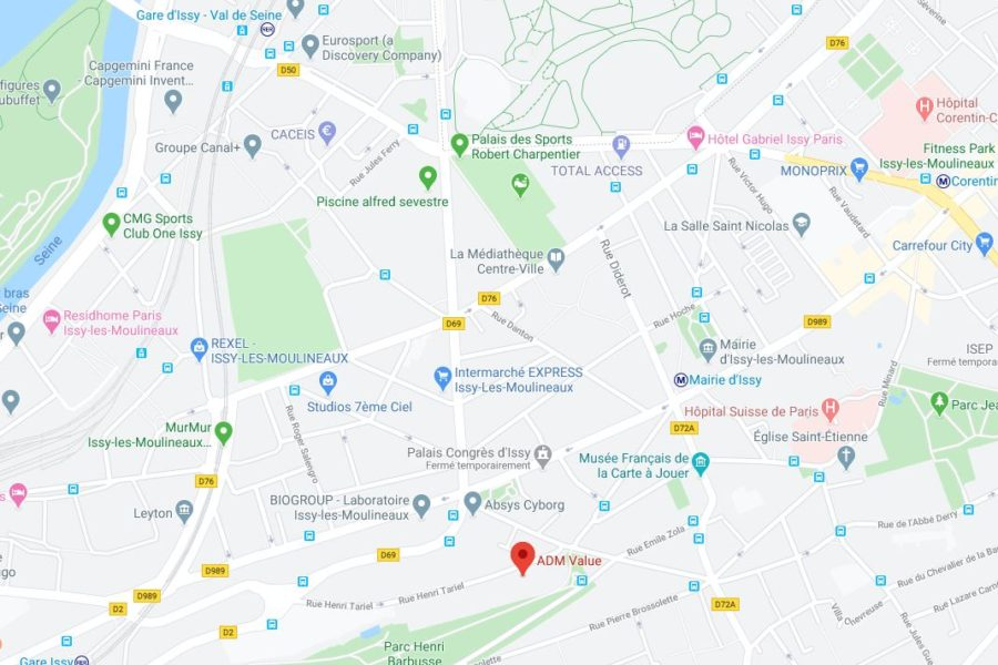 Plan ADM Value Issy Les Moulineaux